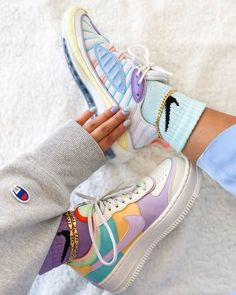 Nike Air Max 98 / Air Force 1 Sneakers from charmvip. Shop more products from charmvip on Wanelo. Nike Air Max, Air Max 97, Nike Air Force 1, Nike Air Shoes, Nike Socks, Rainbow Sneakers, Cute Sneakers, Sneakers Mode, Sneakers Fashion