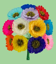 Mexican Paper Flowers   Hispanic Heritage Month   Pinterest   Tissue     Mexican Paper flowers are a very popular craft   made to decorate churches   day of the dead altars  tombs and celebrations such as weddings and  quincea    eras