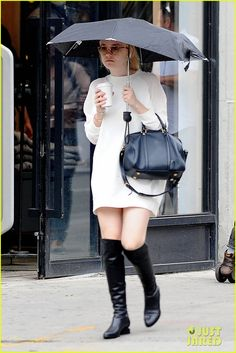 DAKOTA FANNING  RAICOFFEE RUNNY DAY | Dakota Fanning: Rainy Day Coffee Run! | dakota fanning rainy day ...