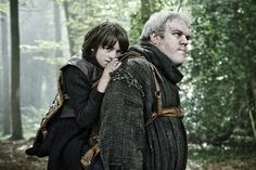 Isaac Hempstead Wright and Kristian Nairn in Game of Thrones (2011) #tvshow #hbo