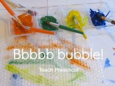bubble Wrap Painting by Teach Preschool