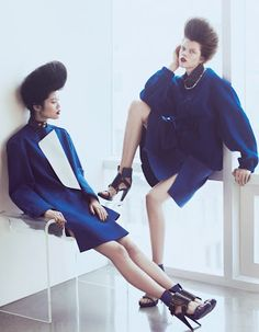 Doll Volume| Ming Xi & Antonia Wesseloh by Andrew Yee for Vogue China November 2012!