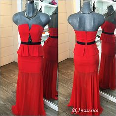 Red addiction at 1 Night Stand 1ns.com.mx  Strapless dress by BCBGMAXAZRIA