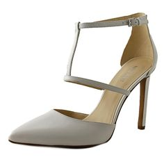 Pair these sophisticated pumps with dresses, slacks, and office attire for a polished appearance. Man-made rubber soles provide traction without sacrificing style. High platform heels ensure a dignifi