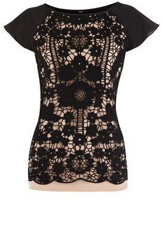 black lace tee- oasis. 75. by myrna