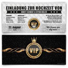 Hochzeitskarten - VIP Gold