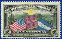 Honduras #C84 Stamp  Flags of US & Honduras Stamp
