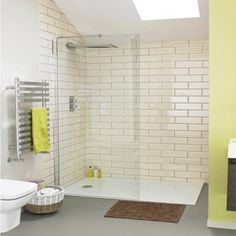 Browse the Aurora Walk In Shower Enclosure & Tray. Ideal for those wanting a sle Large Shower Trays, Walk In Shower Tray, Small Shower Room, Small Showers, Shower Rooms, Wet Room Screens, Walk In Shower Enclosures, Simple Bathroom, Decorating Bathrooms