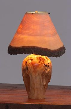 Shade even made from wood. I would not choose this shade, however I love the base.