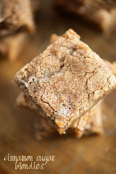 These blonde brownies are perfectly chewy, ready in less than 30 minutes, and topped with crackly cinnamon and sugar! Hello, friends. I'm here today with something new and exciting and maybe a little terrifying. I made a video. Of food. For you to watch. My hands and arms (lots of arms, because I'm sorry, this …