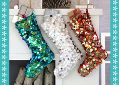Pink Sequin Bow Stocking | happy christmas | Pinterest | Christmas ...