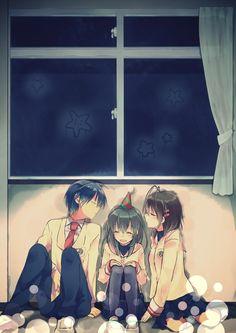Tomoya, Fuko and Nagisa