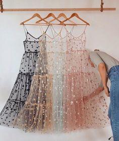 Spaghetti Straps Tulle Long Women's Dresses Fashion Bling Bling Dress – Dres… – Best Of Likes Share Pretty Dresses, Women's Dresses, Beautiful Dresses, Fashion Dresses, Bridesmade Dresses, Sheath Dresses, Fashion Pants, Fashion Clothes, Vintage Dresses