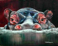 Sneaky Hippo by ~tigeress66 on deviantART