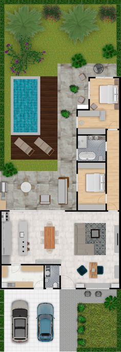 To see more visit 👇 Beach House Floor Plans, New House Plans, Modern House Plans, Small Beach Houses, Small Tiny House, Building A Container Home, Container House Design, Home Building Design, Building A House