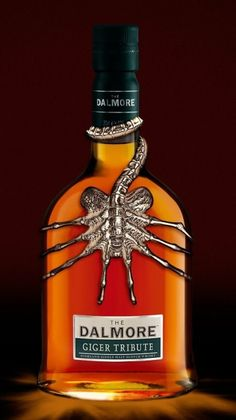 That's pretty cool, if its a photoshop work they should do it for real 😃 Dalmore whisky Giger tribute . Tequila, Vodka, Cigars And Whiskey, Bourbon Whiskey, Whiskey Bottle, Whisky Bar, Alcohol Bottles, Liquor Bottles, Scotch Whisky