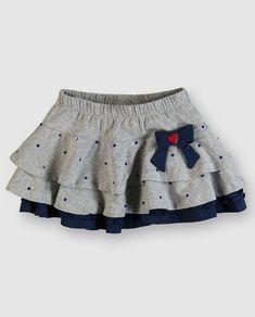 Modelos de falda para niñas  #falda #modelos #modelosdeFalda Little Girl Skirts, Skirts For Kids, Little Girl Dresses, Little Girl Fashion, Toddler Fashion, Kids Fashion, Baby Skirt, Ruffle Skirt, Baby Girl Dress Patterns