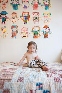 Children's art makes the best art for walls