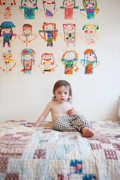 Children's art makes the best art for walls