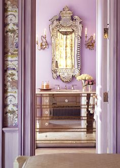 accent furniture ideas - color/setup  Perfectly girlie and glamerous // Powder Room Decor