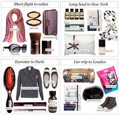 packing necessities for short and long haul flights