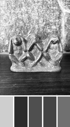 WALK THE TALK - Hear no evil, speak no evil, see no evil. This ornament handed down from my Grandma. Check out the blog to find out how to track your story x