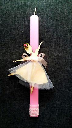 """Χειροποίητη λαμπάδα """"Μπαλαρίνα"""" (handmade easter candle """"Ballerina"""") , made by Lemon Garden Creations"""