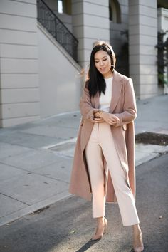 90 Sophisticated Work Attire and Office Outfits for Women to Look Stylish and Chic - Lifestyle State Classy Outfits, Chic Outfits, Fashion Outfits, Nude Outfits, Summer Work Outfits, Fall Outfits, Sweater Outfits, Beige Pants Outfit, Dress Pants