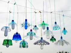 Veronika Richterova - Lights made from plastic bottles