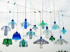 Veronika Richterova - Lights made from plastic bottles
