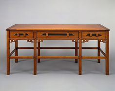 Library Table by Charles Sumner Greene and Henry Mather Greene, ca. 1907-09. The Metropolitan Museum of Art
