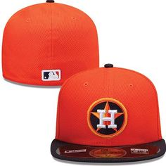 Houston Astros New Era MLB Diamond Tech 5950 Fitted Hat (Orange)