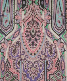 Pink Delicate Floral Scarf, Etro. Shop the latest Etro collection at Liberty.co.uk Indiana, Bohemian Rug, Boho, Liberty Print, Floral Scarf, Paisley Design, Pattern Ideas, Patterns, Digital Prints