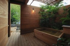 Image 7 of 15 from gallery of Guest House in Aira / Photograph by Akira Ueda Outdoor Balcony, Balcony Garden, Dry Sauna, Timber House, Need A Vacation, All Inclusive Resorts, Akira, Architecture, Gallery