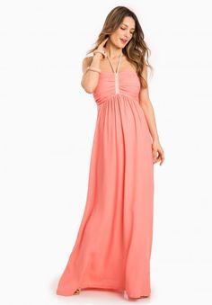 Envie de Fraise // Bella Maternity Dress #MaternityStyle #Maternity #Fashion #BumpStyle #Mumtobe #BabyBump #CoralDress
