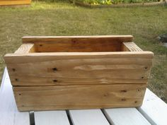 Wooden plant flower box home decor size by GoodsForHome on Etsy, £15.00