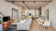 A renovated semi-detached home with a two-storey addition of concrete, timber and terracotta in Balmain, New South Wales. Australian Architecture, Australian Homes, Home Interior Design, Interior And Exterior, Old Cottage, Architecture Awards, Storey Homes, Two Bedroom, Inspired Homes