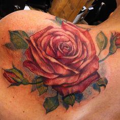 #rose #rosetattoo #tearose #roses #schouldertattoo #amsterdamtattooing  #amsterdamtattoos  #amsterdamtattooshop #denhaagtattoo