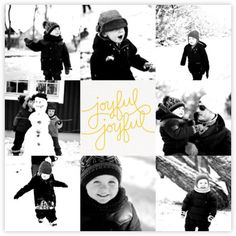 Happy Happy Joy Joy - Multiphoto (Mustard) - Paperless Post