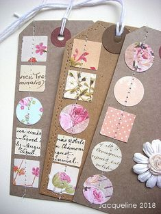 Before I empty my paper bin I salvage every piece . Before I empty my paper bin I salvage every piece of patterned paper that the punch, either round or square will fit into to squeeze out the remaining precious paper. Neli Quilling, Card Tags, Gift Tags, Diy And Crafts, Paper Crafts, Book Markers, Paper Tags, Scrapbook Embellishments, Tag Art
