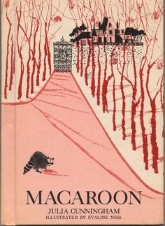 """""""The story is about a raccoon who spends each winter in a different human home. But each spring, Macaroon is forced to part from these children when he returns to his life in the forest, and this parting is, as you might imagine, difficult. So Macaroon decides to solve the problem of painful partings by spending the upcoming winter with a """"disagreeable"""" child -- the most disagreeable child he can find -- so that, come spring, he won't mind leaving.""""  Grey Gardens mashup, anyone?"""