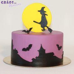 Halloween - Bruxa - Grãos de Açúcar - Bolos decorados - Cake Design