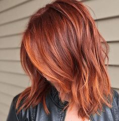 Short Red Hair Color Ideas - There are many short hairstyles that look chic and trendy and we have collected the best ever ideas for you. If you have red hair or you are going to dye it soon with red color, then we offer you combine it with short haircut Red Hair With Blonde Highlights, Red Balayage Hair, Copper Balayage, Auburn Balayage, Red Blonde, Copper Ombre, Orange Highlights, Copper Highlights, Copper Color