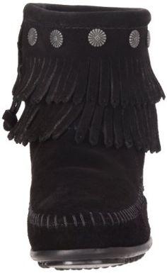 Amazon.com: Minnetonka Women's Hi Top Side Zip Dbl Frnge Boot: Shoes