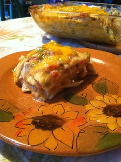 Chicken Enchilada casserole-Diners, Drive-in's, and dives