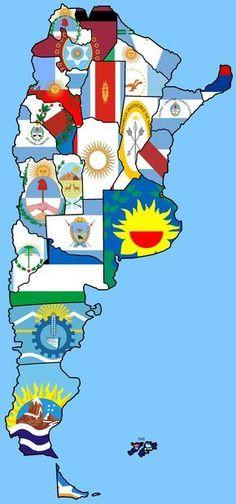 Mapa de las banderas de las provincias Argentina