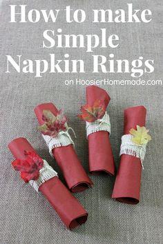 Simple DIY Napkin Rings   Instructions on HoosierHomemade.com #PFDecorates