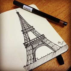eiffel tower drawing and sketches (6)                                                                                                                                                                                 More