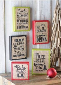 Holiday Humor Plaques $9.59 each