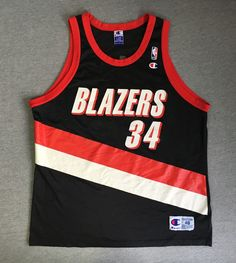new concept 2fd3e 489b5 Blazers Jersey Portland Trail Champion Vtg Basketball Dale Davis  34 USA 48  EUC  Champion  PortlandTrailBlazers
